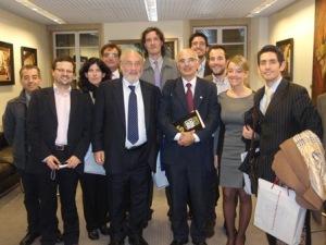 """Los """"afortunados"""" con el Profesor Stiglitz"""